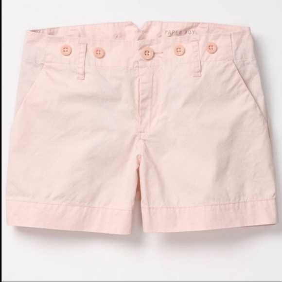 Anthropologie Pants - Anthropologie Paper Boy Light Pink Twill Shorts